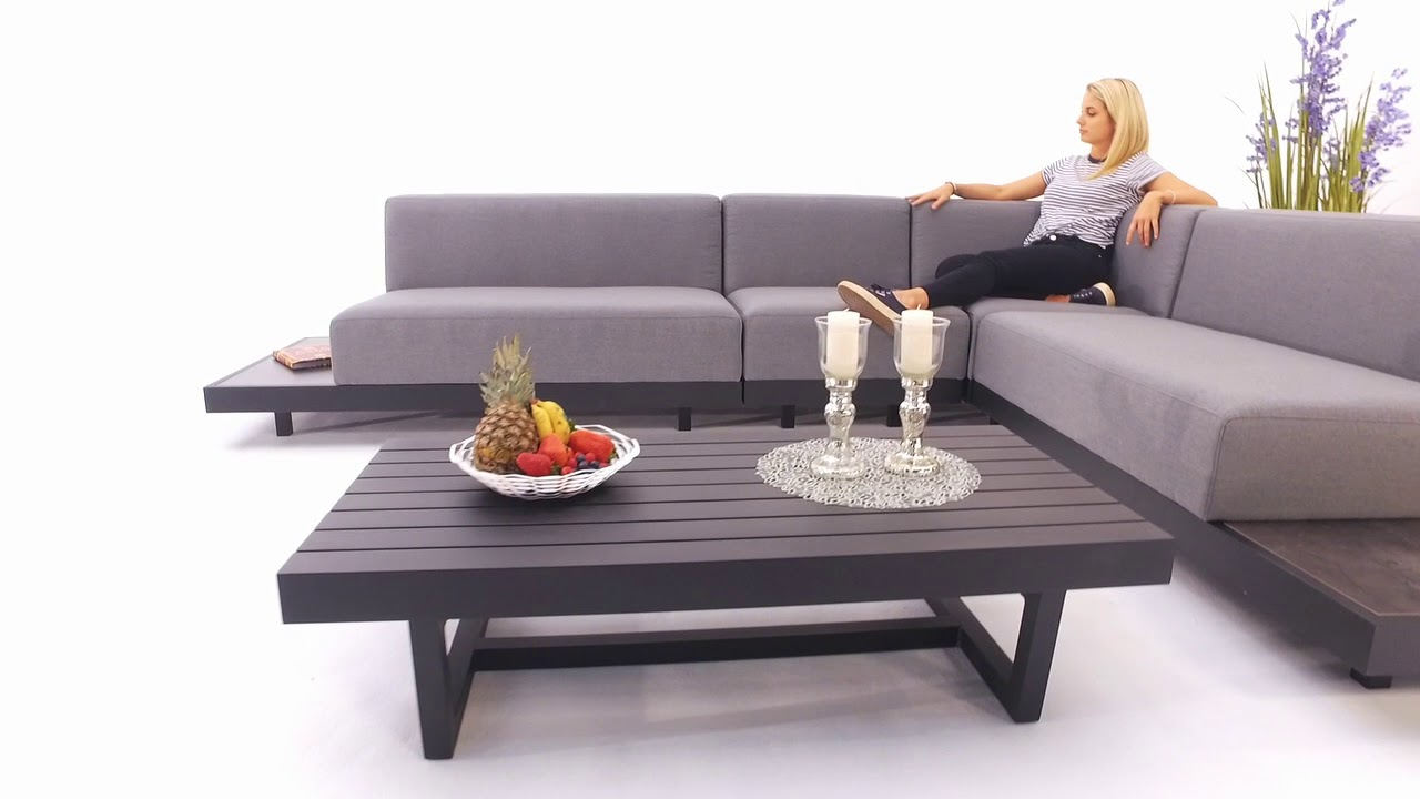 outdoor lounge toronto grau wetterfest sunbrella stoff youtube. Black Bedroom Furniture Sets. Home Design Ideas