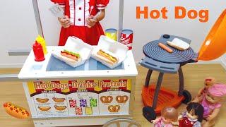 ホットドッグ屋さん カート おままごと / Hot Dog Cart Toy and Mell-chan Doll
