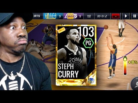 103 OVR GOLDEN TICKET STEPH CURRY SHOOTING DEEP 3 POINTERS! NBA Live Mobile 18 Gameplay Ep. 66