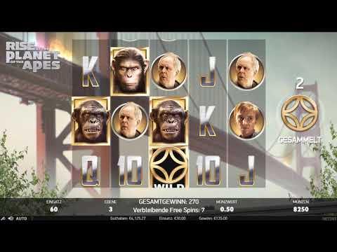 30€ Freispiele bei Planet of the Ape von NetEnt