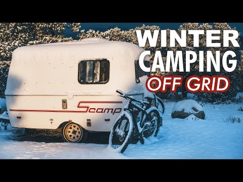 winter-plans?-full-time-off-grid-camping-//-13ft-scamp-trailer