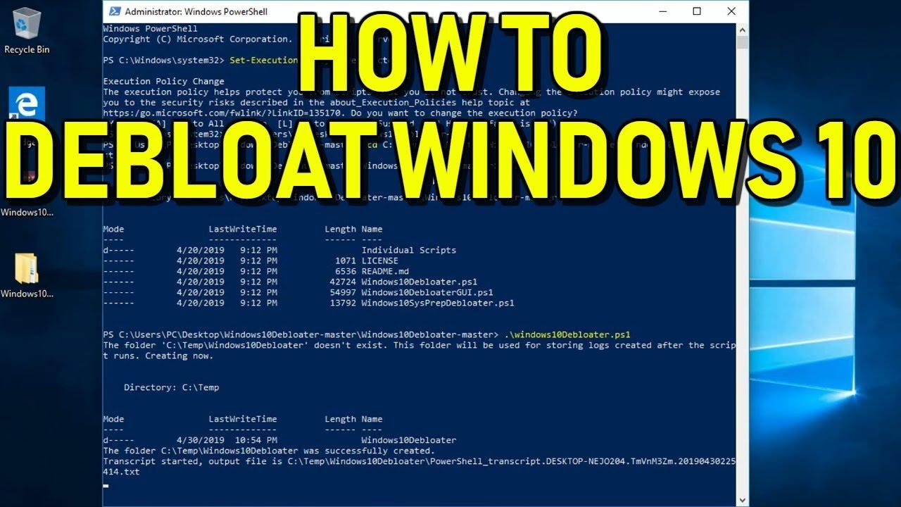 How to Debloat Windows 10 Easy Guide 2019