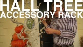 Hall Tree Accessory Rack   The Garden Home Challenge With P. Allen Smith