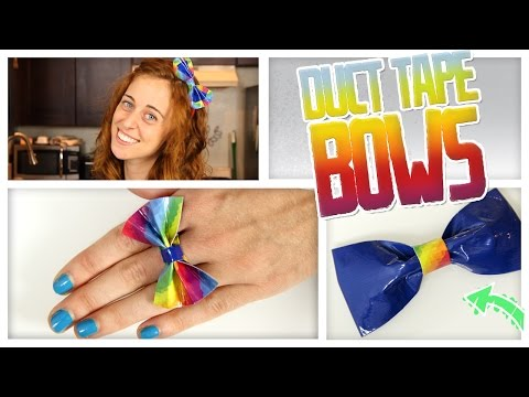 DIY Duct Tape Bows!