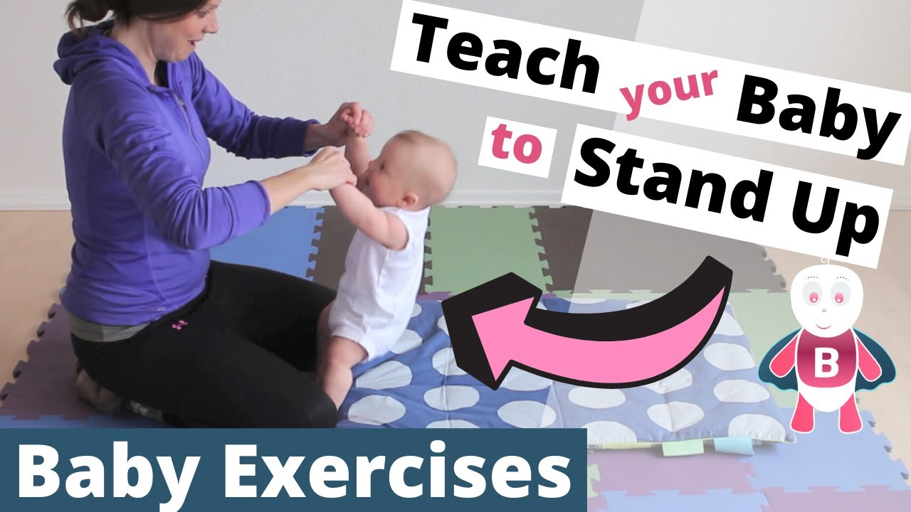 Baby Playtime Exercises 3 6 Months Sit Up Stand Up Baby
