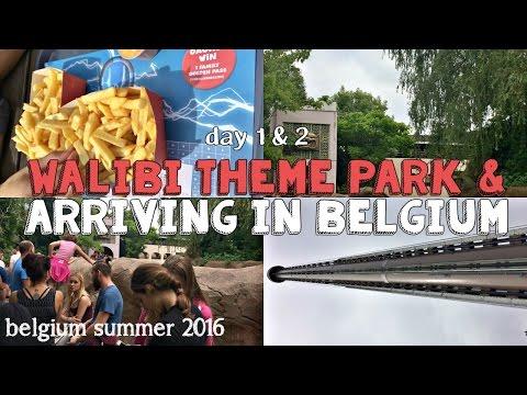 Walibi Theme Park + Arriving in Belgium // Belgium Summer 2016