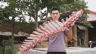 【食味阿远】80块钱买了根大牛骨,阿远熬了4小时牛肉汤,这牛肉汤面吃着痛快   Shi Wei A Yuan