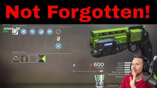 Getting Not Forgotten Hand Cannon - Destiny 2 Competitive Gameplay