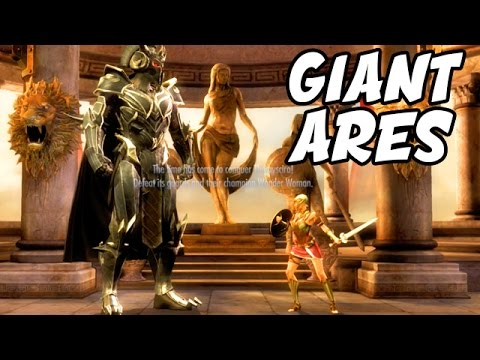 "Injustice: PLAYING AS GIANT ARES! - Injustice ""Ares"" Gameplay STAR Labs Mission"