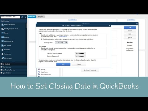 How to Set a Closing Date inside QuickBooks
