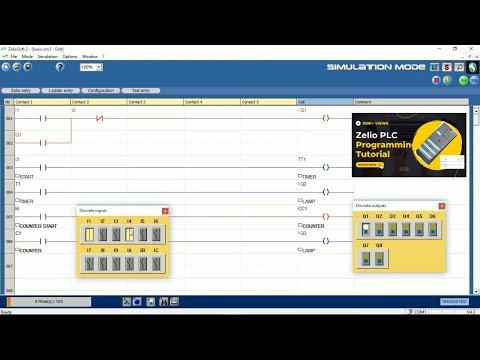 Schneider Zelio Plc Zelio Software Zelio Soft 2 Simulation Youtube