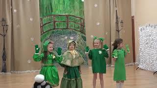Дети поют и танцуют, сказка про БУРАТИНО  Новогодний утренник в детском саду. Детский мьюзкл