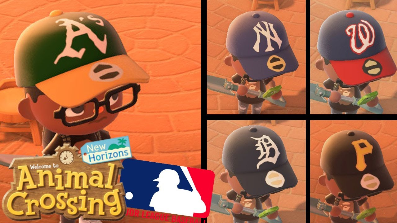 Creating Every Mlb Team Hat In Animal Crossing New Horizons Part 1 Youtube