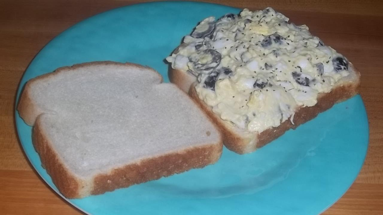Egg and Olive Spread-An Easy Egg Salad Sandwich Recipe - YouTube