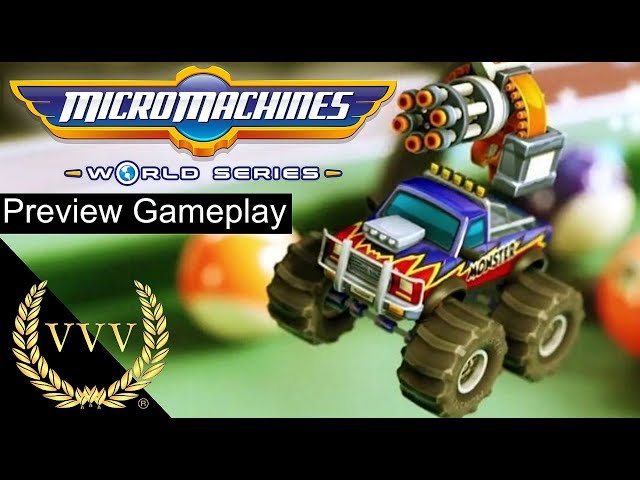 Micro Machines World Series Preview Gameplay