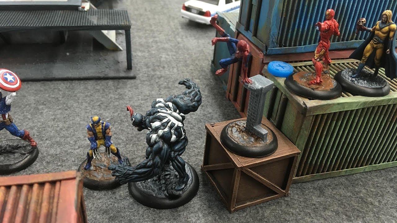 Marvel Universe Miniature Game Battle Report - Avengers vs Dark Avengers