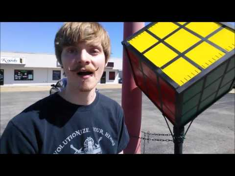 Giant Metal Rubik's Cube Display