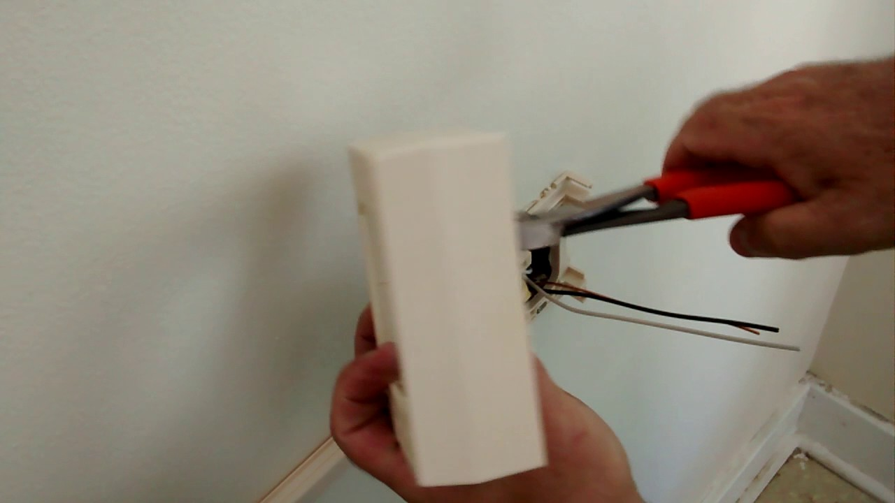 How To Install Plastic Wire Mold Pulling Wires Installing Outlets Part 2