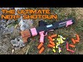 The Dream of a NERF Shotgun is REAL! Tube Magazine & Shell Ejection    Spring Thunder Review