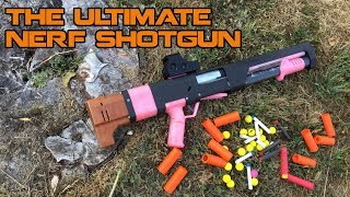 The Dream of a NERF Shotgun is REAL! Tube Magazine & Shell Ejection || Spring Thunder Review