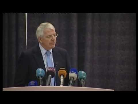 Former British Prime Minister Sir John Major delivers seminar on British-Kuwaiti relations