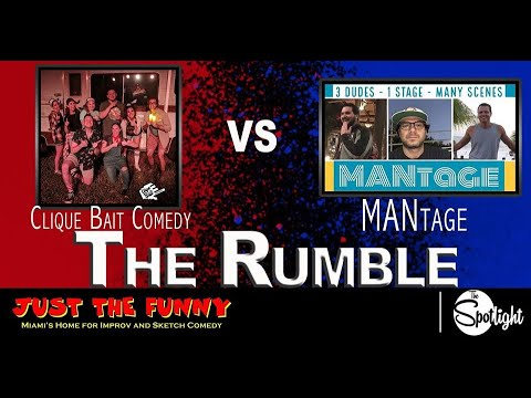 Clique Bait Vs. MANtage - The Rumble At Just The Funny's Spotlight Nov. 14, 2019
