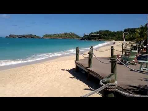 The beach at Galley Bay, Antigua
