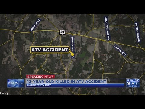 12-year-old boy killed in Harnett County ATV accident