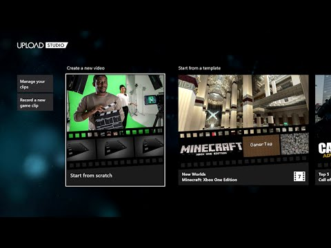 how to use upload on xbox one