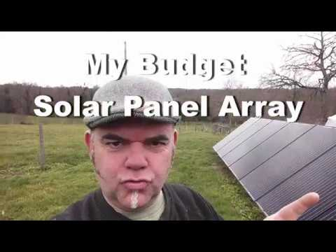 'Solar Panel Array' DIY installation demonstration on wooden frame