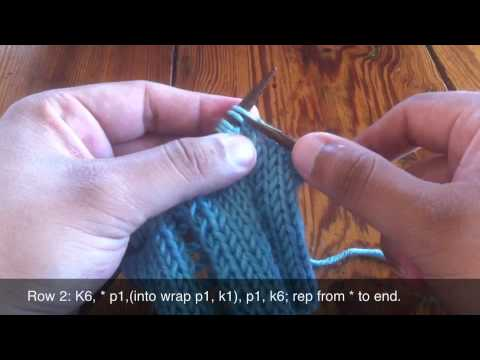 How To Knit The Open Work Ladder Stitch Youtube