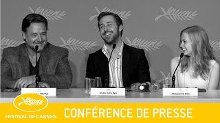 THE NICE GUYS - Press Conference -EV - Cannes 2016