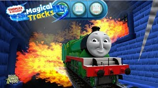 HENRY Adventure in FIRE HAUNTED CASTLE  | Thomas & Friends: Magical Tracks - Kids Train Set By Budge