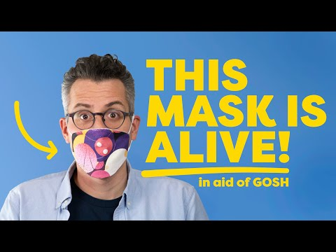 World's First Animated COVID Mask - in aid of GOSH