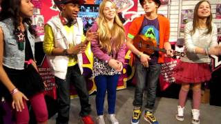 "Kidz Bop Kids at the International Toy Fair in New York introduce themselves and sing ""Price Tag""."
