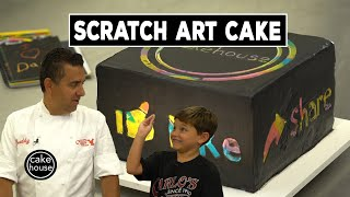 The Cake Boss & Carlo Invent a Scratch Art Cake | Cool Cakes 10