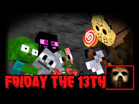 MONSTER SCHOOL : SAVE MONSTERS FROM JASON(HORROR FUNNY)  - Minecraft Animation
