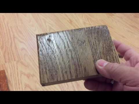 Wood Flooring Scratch Test on Engineered, Solid and Laminate Samples