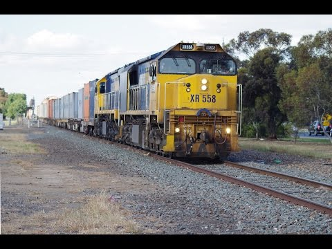 XR558 & XR557 (9306) 23rd Oct 2015 Tocumwal to Melbourne freight at Shepparton
