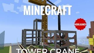 Download Minecraft Construction Crane Videos Dcyoutube - Minecraft moderne hauser lekoopa