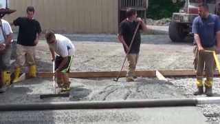 Concrete Spin Screed used by amateurs for their first pour.