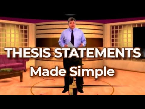 Видео How to make a thesis statement example
