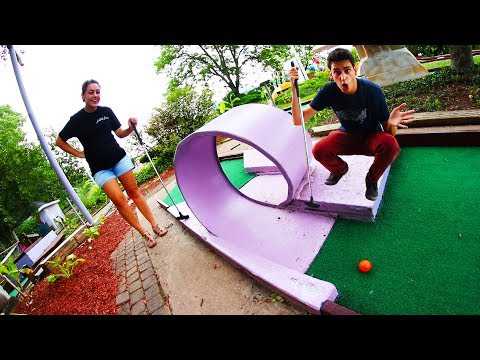 MINI GOLF FACE OFF ROUND 5! | Husband vs. Wife