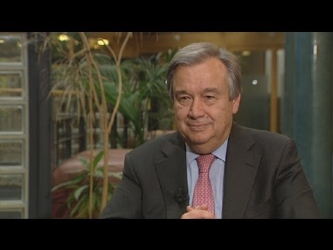 "euronews interview - António Guterres: ""we're witnessing human suffering on an epic scale"""
