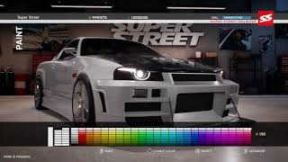 Super Street: The Game [PS4/XOne/PC] Customization Gameplay