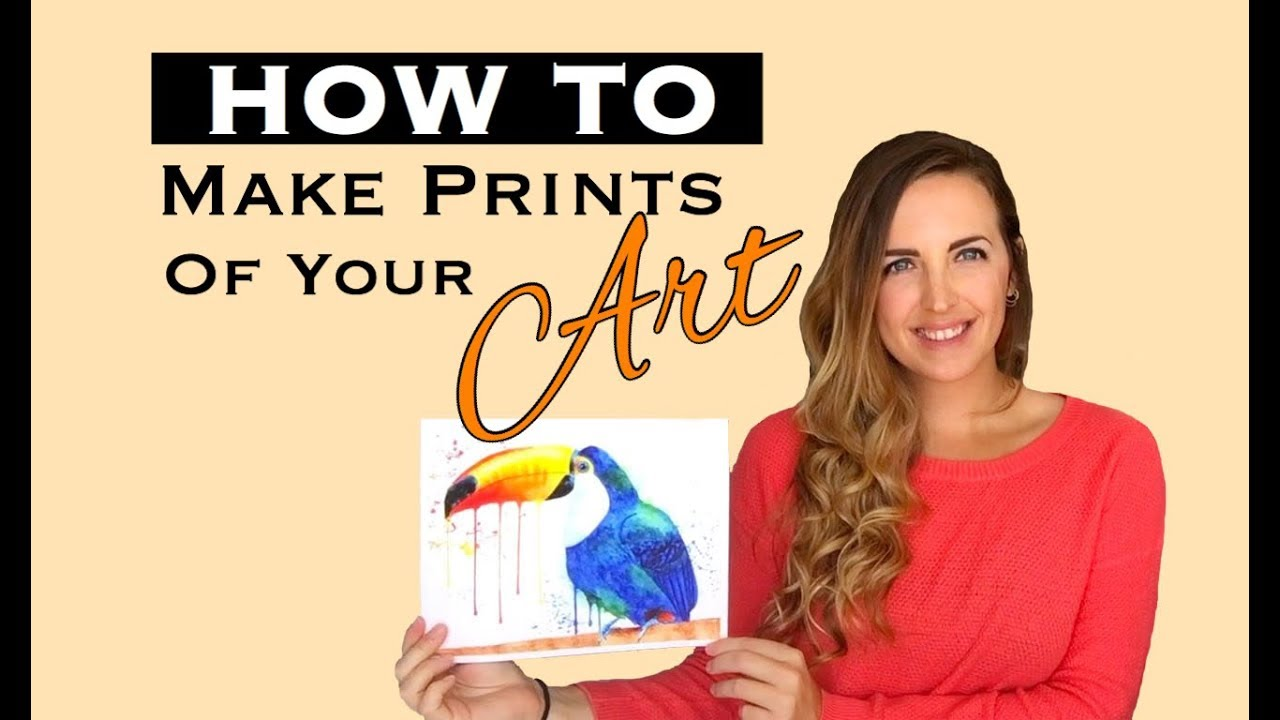 how to make prints of your art youtube