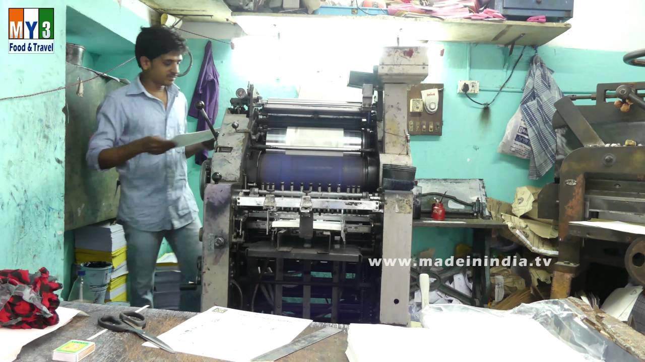 Printing Business Cards And Visiting Cards Machine | LIFE IN INDIA ...