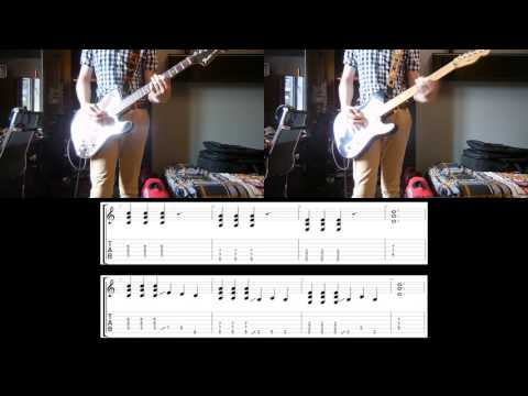 Foo Fighters - Run Guitar cover with tabs (for 2 guitars)