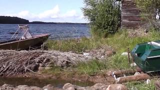 Карелия. Озеро Сямозеро. Катер(Это видео создано с помощью видеоредактора YouTube (http://www.youtube.com/editor), 2014-10-28T07:16:14.000Z)