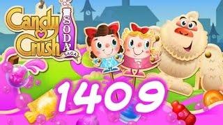 Candy Crush Soda Saga Level 1409 - 1 Booster Used